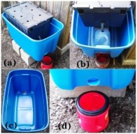 image showing how prepupae self-harvesting from a bsf bioreactor get collected in a bucket